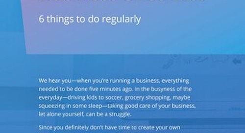A Healthy Business Checklist- Things to do regularly