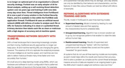 Threat Intelligence with Integrated AI and ML Reduces Risk and Supports Performance