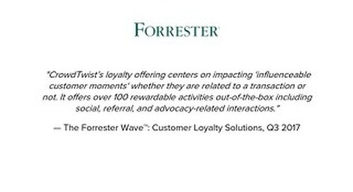 The Forrester Wave™: Customer Loyalty Solutions, Q3 2017