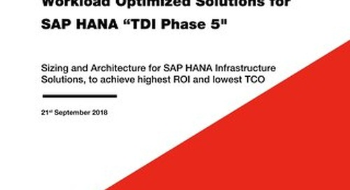 Lenovo ThinkSystem Workload Optimized Solutions for SAP HANA