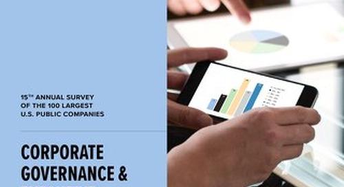 2017 Corporate Governance & Execution Compensation Survey