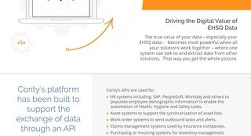 Product Sheet - Cority APIs and Data Exchange
