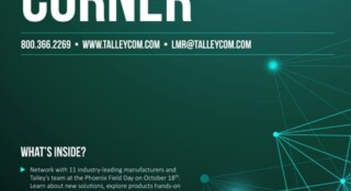 October 2018 Talley LMR Corner
