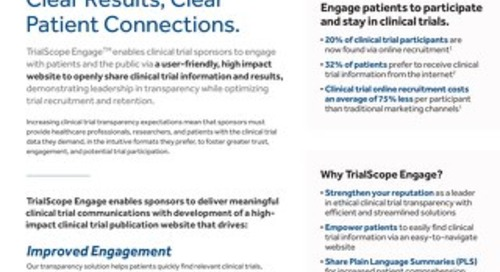 TrialScope Engage Overview Flyer