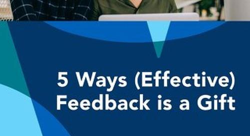 5 Ways Feedback is a Gift