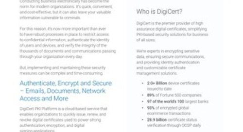 Symantec Managed PKI