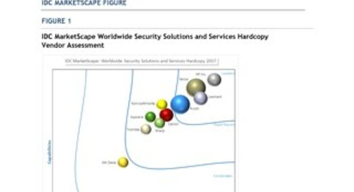 HP is a leader in IDC MarketScape: Worldwide Security Solutions and Services Hardcopy 2017 Vendor Assessment
