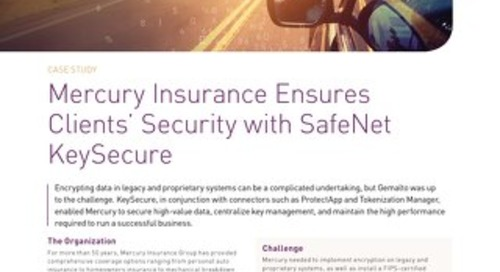 Mercury insurance with safenet keysecure Case Study