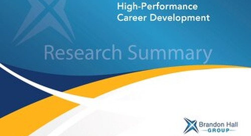 5 Essentials for High-Performance Career Development