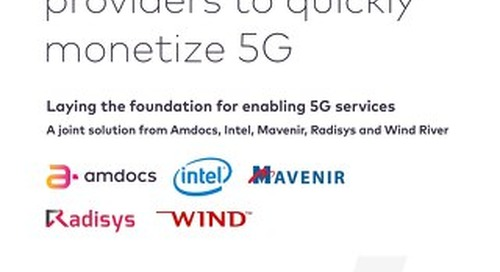 Paving the Way for Service Providers to Quickly Monetize 5G