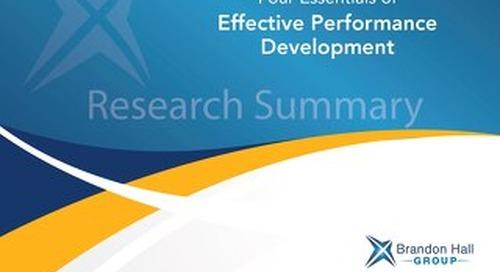 4 Essentials of Effective Performance Development
