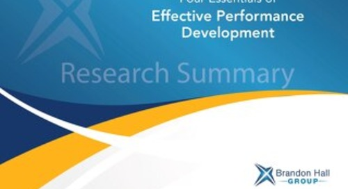 4 Essentials of Effective Performance Development