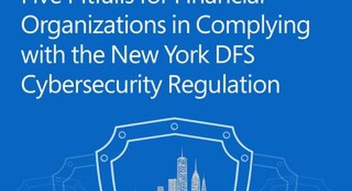 Five Pitfalls for Financial Organizations in Complying with the New York DFS Cybersecurity Regulation