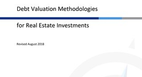 Debt Valuation Methodologies for Real Estate Investments