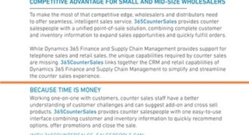 365CounterSales - Sales Sheet
