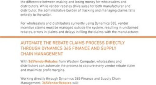 365VendorRebates Sales Sheet