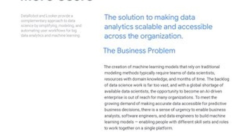 Data Robot Solution Brief