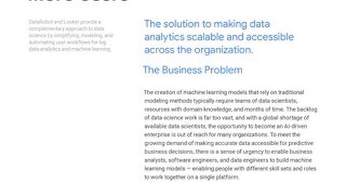 Data Robot Solution Brief