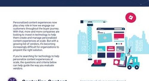 Content Experience Platform - Vendor Checklist