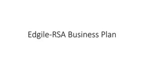RSA Edgile Business Plan