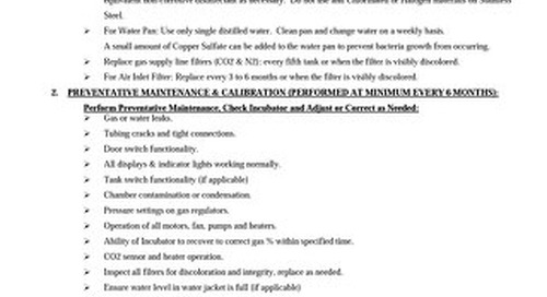 [Service Bulletin] CO2 Incubator Preventative Maintenance