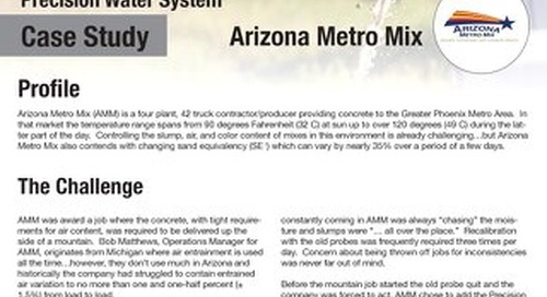 Arizona Metro Mix PWS Case Study