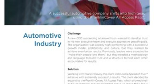 AAP Case Study - Automotive Industry