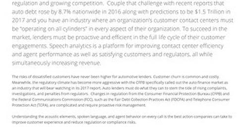 Speech Analytics for Automotive Lenders