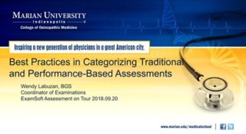 Best Practices in Categorizing Traditionaland Performance-Based Assessments