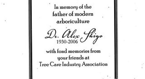 Dr Alex Shigo Memorial Book