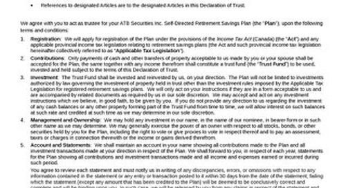RSP Declaration of Trust 325