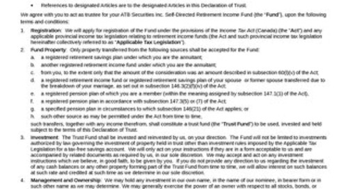 RIF Declaration of Trust 326