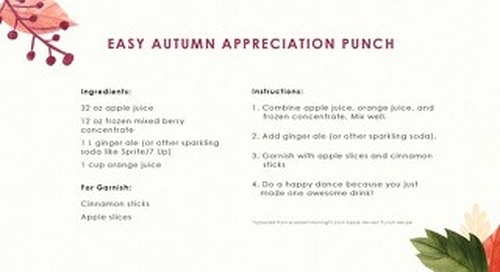 Fall Recipe Cards