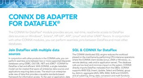 CONNX DB Adapter for DataFlex®