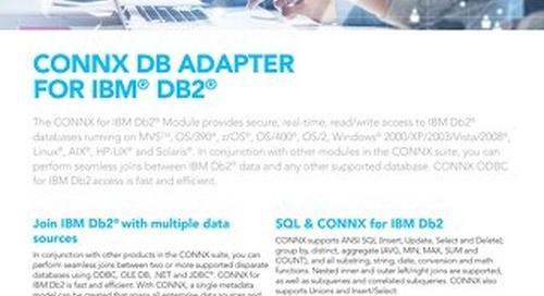 CONNX DB Adapter for IBM® Db2®
