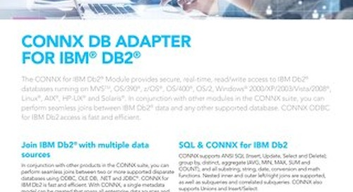 CONNX DB Adapter for IBM® Db2®
