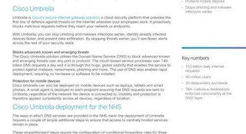 Cisco Umbrella: Maximum threat protection for the NHS