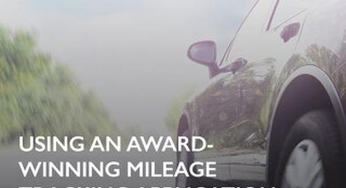 Large Beverage Company Uses Award-Winning Mileage Tracking Application