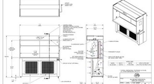 [Drawing] AireGard NU-340-630 Laminar Airflow Workstation with Leg Levelers