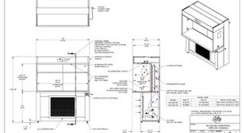 [Drawing] AireGard NU-340-530, NU-340-536 Laminar Airflow Workstation