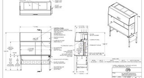 [Drawing] AireGard NU-240-630 Horizontal Laminar Airflow Workstation