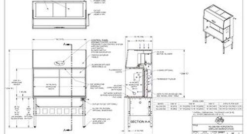 [Drawing] AireGard NU-240-530, NU-240-536 Horizontal Laminar Airflow Workstation