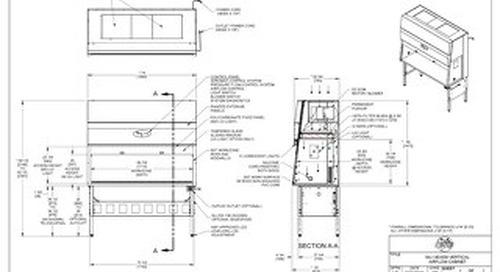 [Drawing] AireGard NU-140-630 Vertical Laminar Airflow Workstation