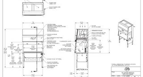 [Drawing] AireGard NU-140-430 Vertical Laminar Airflow Workstation