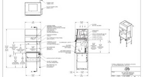 [Drawing] AireGard NU-140-330 Vertical Laminar Airflow Workstation