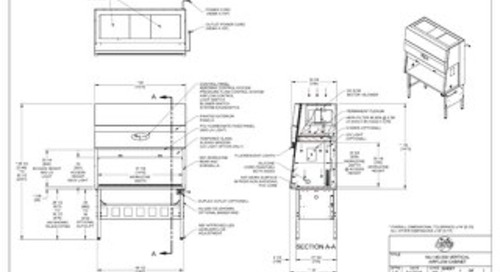 [Drawing] AireGard NU-140-530 Vertical Laminar Airflow Workstation