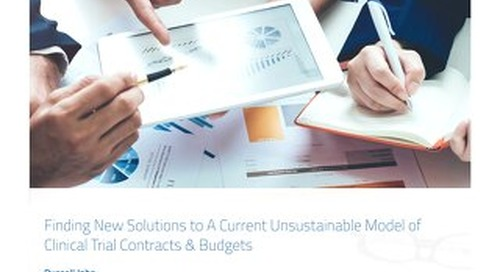 Finding New Solutions to a Current Unsustainable Model of Clinical Trial Contracts & Budgets