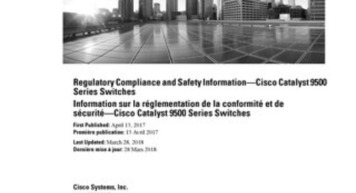Regulatory Compliance and Safety Information—Cisco Catalyst 9500 Series Switches
