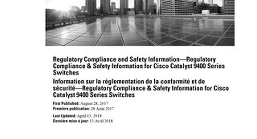 Regulatory Compliance and Safety Information—Regulatory Compliance & Safety Information for Cisco Catalyst 9400 Series Switches