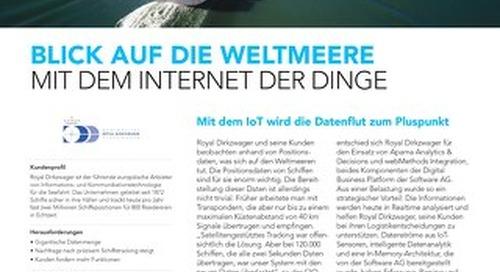 Blick auf die Weltmeere Mit dem Internet der Dinge